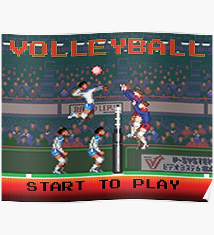Volleyball Video game Poster