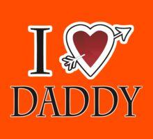 i love daddy heart  Kids Tee