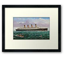 RMS Aquitania Framed Print