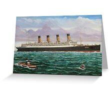RMS Aquitania Greeting Card