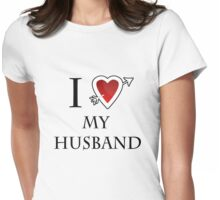 i love my husband heart  Womens Fitted T-Shirt