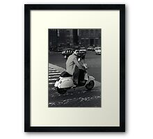 Scooterman Rome Framed Print