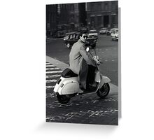 Scooterman Rome Greeting Card