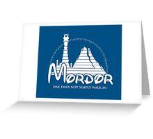 Disney Mordor Greeting Card