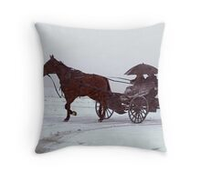 Amish Drive-By Throw Pillow