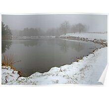 Pond In Snow Poster