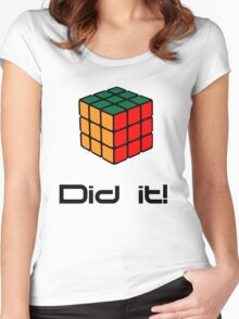 Rubix Cube - Did it! Women's Fitted Scoop T-Shirt
