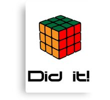 Rubix Cube - Did it! Canvas Print