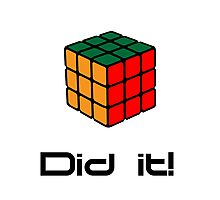 Rubix Cube - Did it! Photographic Print