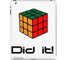 Rubix Cube - Did it! iPad Case/Skin