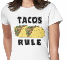 Cinco de Mayo Tacos Rule Womens Fitted T-Shirt