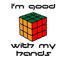 Rubix Cube - Good with my hands Photographic Print