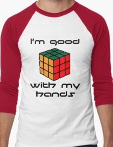 Rubix Cube - Good with my hands Men's Baseball ¾ T-Shirt