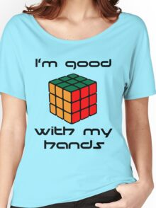 Rubix Cube - Good with my hands Women's Relaxed Fit T-Shirt