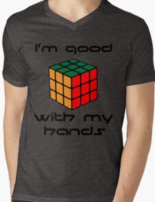 Rubix Cube - Good with my hands Mens V-Neck T-Shirt