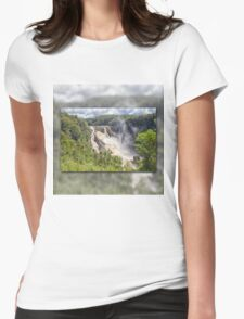 Tropical water fall Womens Fitted T-Shirt