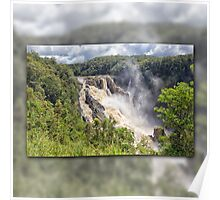 Tropical water fall Poster