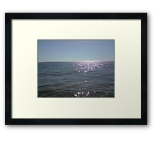Leave your troubles behind you. Framed Print