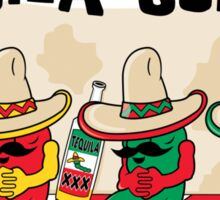 "Cinco de Mayo ""Working On A Tequila Sunrise"" Sticker"