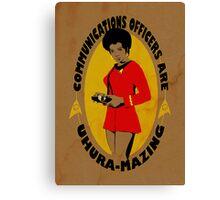 Uhura-mazing Canvas Print