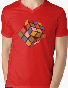 Rubix Cube - Plain Mens V-Neck T-Shirt