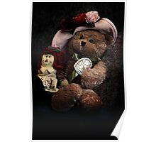 BFFs: Teddy Bear and Raggedy Ann Poster