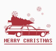 Merry Christmas wagon - red Kids Clothes