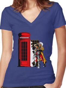 Back To The Dreamatorium Women's Fitted V-Neck T-Shirt