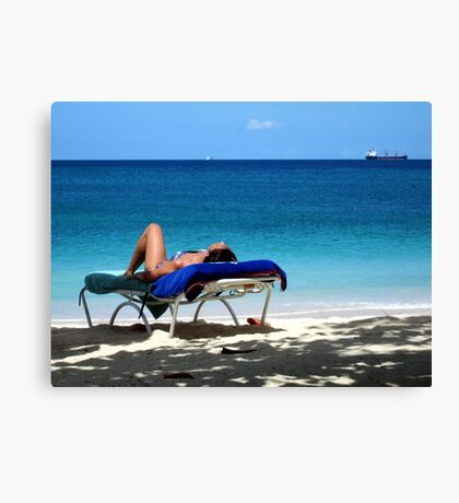 Life`s a Beach Canvas Print