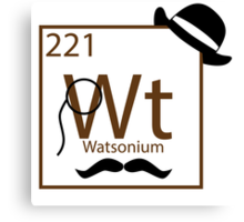 My Dear Watson is Elementary Canvas Print
