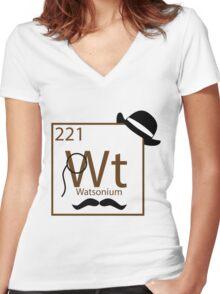 My Dear Watson is Elementary Women's Fitted V-Neck T-Shirt
