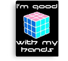 Rubix Cube - Good with my hands. Negative Space Canvas Print