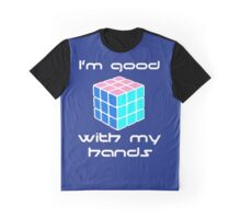 Rubix Cube - Good with my hands. Negative Space Graphic T-Shirt