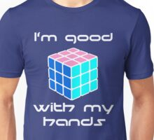 Rubix Cube - Good with my hands. Negative Space Unisex T-Shirt