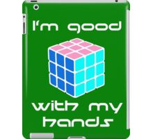 Rubix Cube - Good with my hands. Negative Space iPad Case/Skin