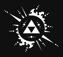 The legend of Zelda Triforce, White by BudDudley