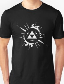 The legend of Zelda Triforce, White Unisex T-Shirt