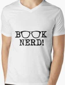 Book Nerd Mens V-Neck T-Shirt