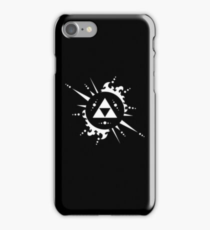 The legend of Zelda Triforce, White iPhone Case/Skin