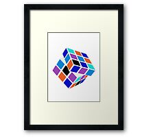 Rubix Cube - Unsolved. Negative Space Framed Print