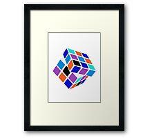 Rubix Cube - Unsolved. Negative Space Framed Print