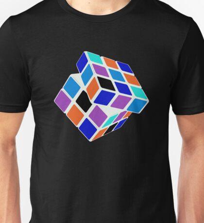 Rubix Cube - Unsolved. Negative Space Unisex T-Shirt