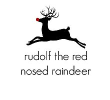 Christmas Rudolf the red nosed raindeer Photographic Print