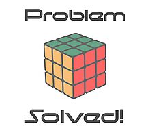 Rubix Cube - Problem Solved. Photographic Print