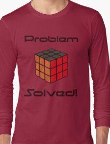 Rubix Cube - Problem Solved. Long Sleeve T-Shirt