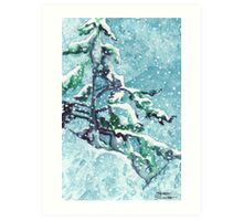 Standing Tall in the Snow Art Print