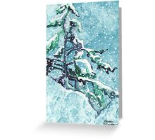 Standing Tall in the Snow Greeting Card