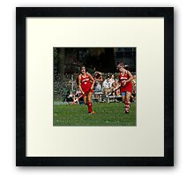 090712 050 1 stained glass field hockey Framed Print
