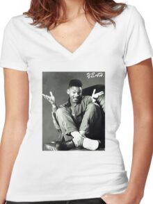 The freshest Prince! Women's Fitted V-Neck T-Shirt