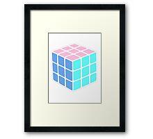 Rubix Cube - Plain Framed Print